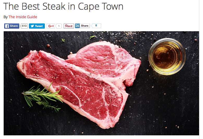The Best Steak in Cape Town